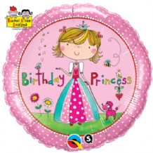 "Ellen - Birthday Princess Foil Balloon (18"") 1pc"